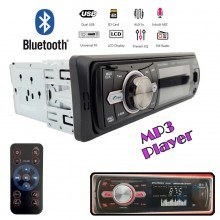 Радио MP3 плеър за кола, Bluetooth USB SD AUX FM радио, дистанционно