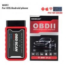 Безжичен уред за диагностика на автомобила OBDII ELM327, WiFi, iOS, Android