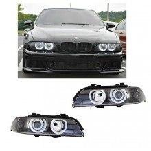 Кристални фарове Angel Eyes BMW E39 (1995-2000) черни