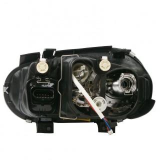 Кристални фарове за Голф 4 - R32 дизайн - черни