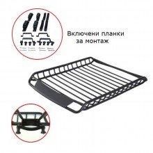 Стоманен универсален багажник за покрив 120х100см