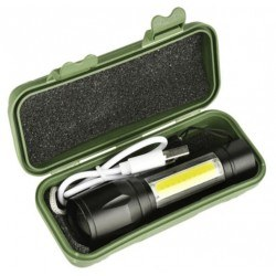 Акумулаторен LED фенер с регулировка на фокуса