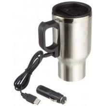 Термо чаша с нагревател 12V, USB 5V