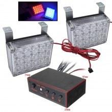 Аварийна сигнална LED лампа 12V блиц синя и червена светлина