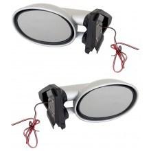 Универсални странични огледала с лед мигач черни, сребристи