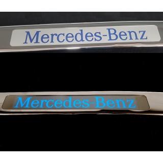 Хромирана лайсна за заден капак на Mercedes W202 USA