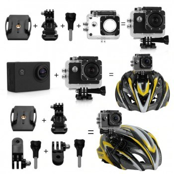 Екшън камера Ultra HD 4K с аксесоари
