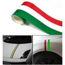 Италианско знаме стикер за кола на ролка 5 метра
