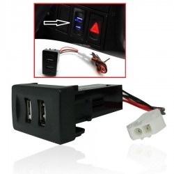 USB зарядно за два телефона за вграждане в таблото на VW Transporter T4
