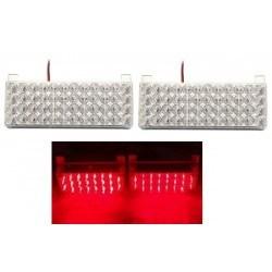 Аварийна сигнална LED лампа 12V блиц червена светлина