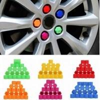 Декоративни капачки за болтове силиконови цветни 17мм