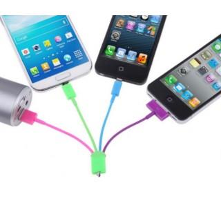 USB кабел за зареждане 4 в 1