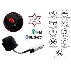 Bluetooth FM трансмитер с блутут колонка 12V 24V