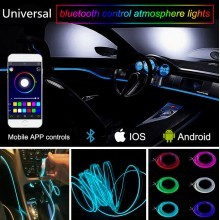 Led лед осветление за интериор на кола с блутут контрол от телефона