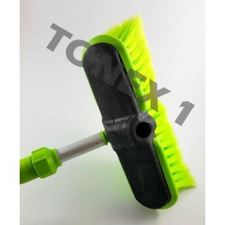 Четка за миене с вграден накрайник за маркуч телескопична