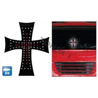 Светещ диоден кръст 24V