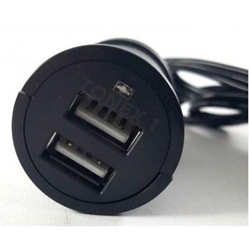 USB зарядно за два телефона с кабел 1м
