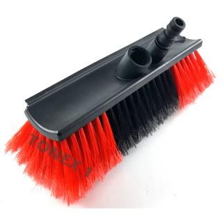 Четка за миене с вграден накрайник за маркуч и перо за подсушаване