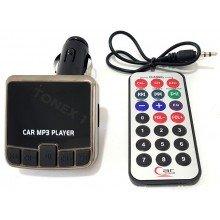 MP3 FM трансмитер за кола с дистанционно 12V / 24V