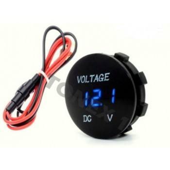 Дигитален волтметър за кола с цифри за вграждане