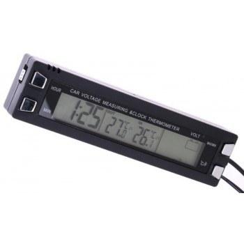 Автомобилен часовник термометър
