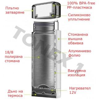 Термос с нагревател 12V 1000ml