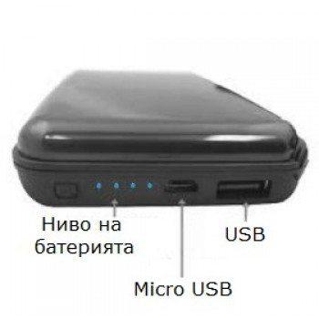 Портфейл преносимо зарядно Power Bank, за документи и карти