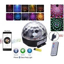Светлинен ефект, RGB Лампа, 6 диода, 5W, цифров дисплей, Bluetooth