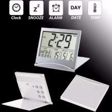 Сгъваем електронен часовник 3 в 1 с будилник, календар и термометър