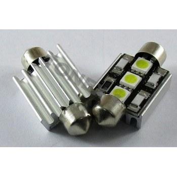 Диодна крушка (LED крушка) 12V, C5W, SV8.5, 39мм, Canbus, блистер 2 бр.