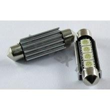 Диодна крушка (LED крушка) 24V, C10W, SV8.5, 41мм, синя светлина, блистер 2 бр.