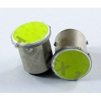 Диодна крушка (LED крушка) 12V, P21/4W, BAZ15d, блистер 2 бр.