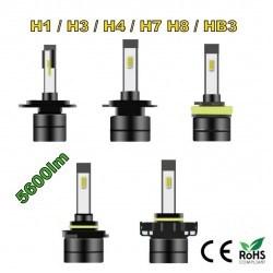 Диодна крушка (LED крушка) 12 / 24V, H1, H3, H4, H7, H8, HB3, блистер 2бр.