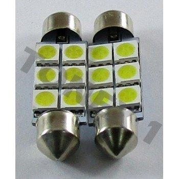 Диодна крушка (LED крушка) 24V, C10W, SV8.5, 41мм, блистер 2 бр.