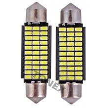 Диодна крушка (LED крушка) 12V, C5W, SV8.5, Canbus, блистер 2 бр.