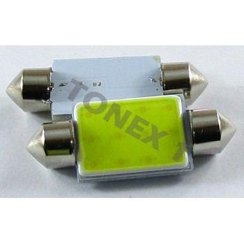 Диодна крушка (LED крушка) 24V, C10W, SV8.5, 39мм, блистер 2 бр.