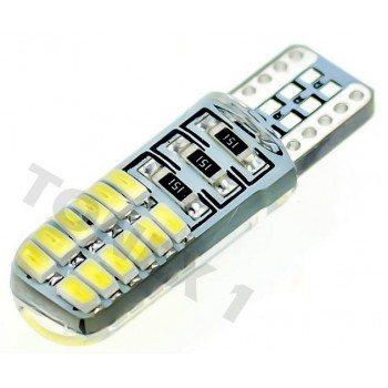Диодна крушка (LED крушка) 12V, W5W, T10, W2.1x9.5d, Canbus, блистер 2 бр