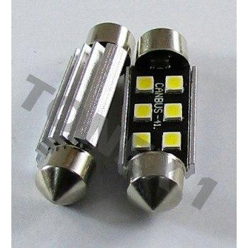 Диодна крушка (LED крушка) 12V, C5W, SV8.5, 41мм, Canbus, блистер 2 бр.