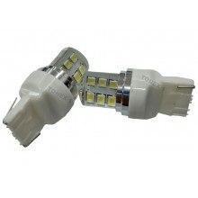 Диодна крушка (LED крушка) 12V, 24V, W21W, W3x16d, блистер 2 бр.