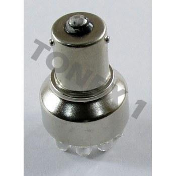 Диодна крушка (LED крушка) 12V, P21W, BAU15s, жълта светлина