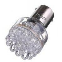 Диодна крушка (LED крушка) 12V, P21W, BA15s, жълта светлина