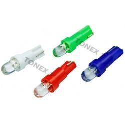 Диодна крушка (LED крушка) 12V, W1.2W, T5, W2x6.4d, блистер 2бр