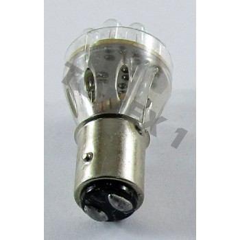Диодна крушка (LED крушка) 12V, P21/5W, BAY15d, червена светлина