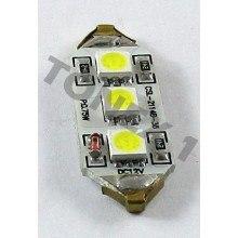 Диодна крушка (LED крушка) 12V, C5W, SV8.5, 36мм, Canbus