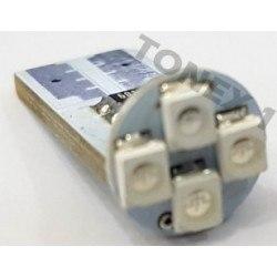 Диодна крушка (LED крушка) 24V, W5W, T10, W2.1x9.5d, синя светлина, блистер 2бр.