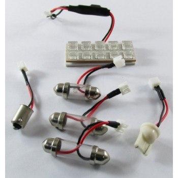 Диодна крушка (LED крушка) интериорна, за плафон 12V, синя светлина
