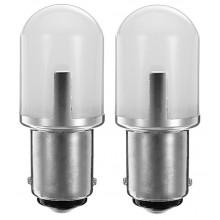Диодна крушка (LED крушка) 12V, 24V, P21W, BA15s, блистер 2 бр.