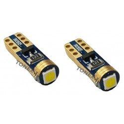Диодна крушка (LED крушка) 12V, W1.2W, T5, W2x6.4d, блистер 2 бр.