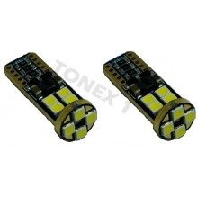 Диодна крушка (LED крушка) 12V, 24V, W5W, T10, W2.1x9.5d, Canbus, блистер 2 бр.