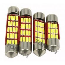Диодна крушка (LED крушка) 12V, C5W, C10W, SV8.5, блистер 2 бр.